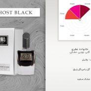 عطر زنانه دلئون (De Leon) مدل گست بلک (Ghost Black) حجم 90ml